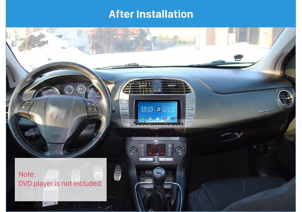 Seicane Refined Double Din Car Radio Fascia for 2006+ FIAT BRAVO Audio Frame Cover In Dash Mount Kit Panel Plate