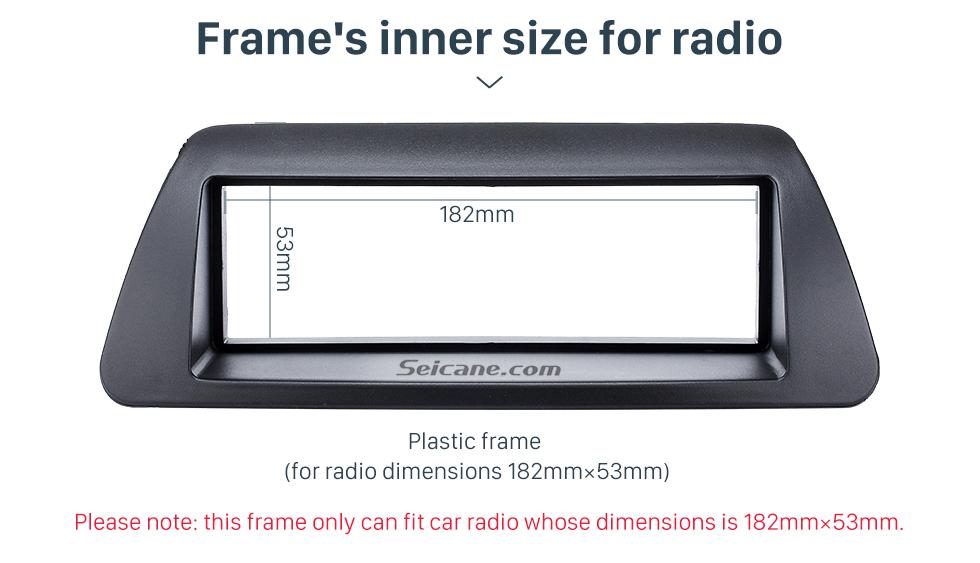 Seicane Perfect 1Din Car Radio Fascia for 1995-2001 FIAT Bravo 182 Brava 182 Marea 185 Panel Frame Audio Cover Trim Bezel