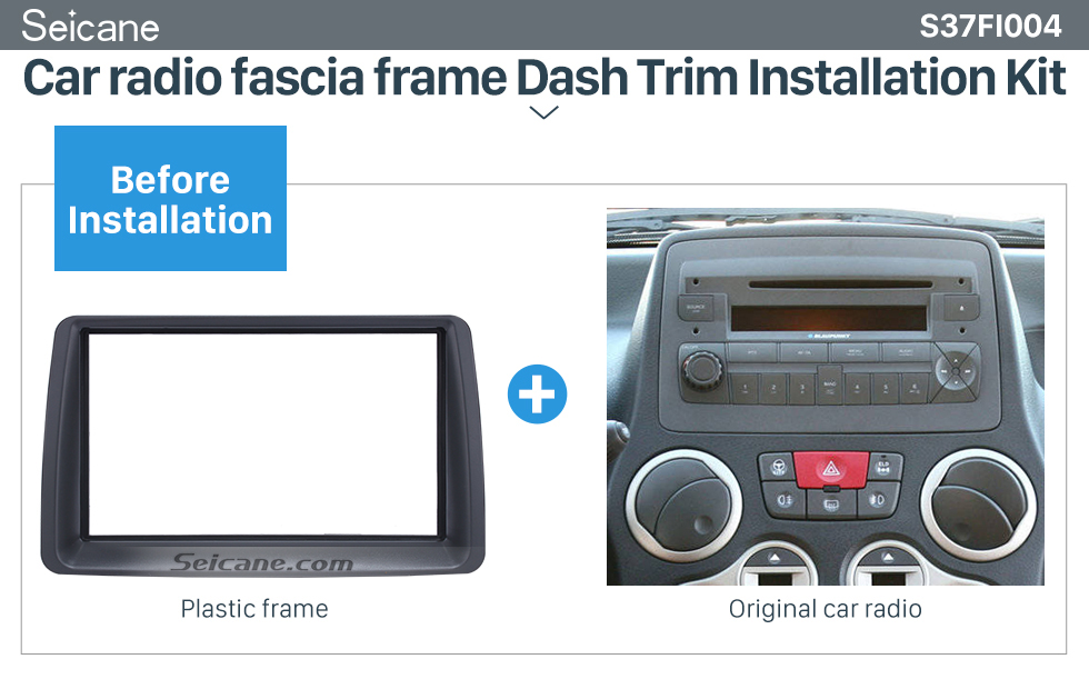 Seicane Delicate Double Din Car Radio Fascia for 2003-2012 FIAT PANDA Car Styling Autostereo Adapter Frame Panel