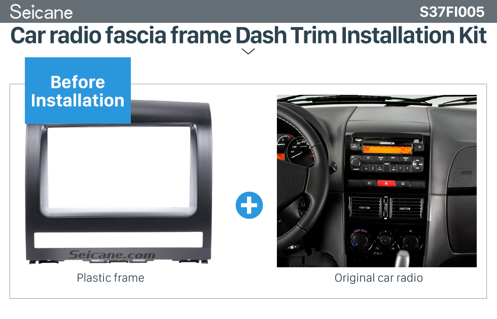 Seicane Superior Double Din Car Radio Fascia for 2009 FIAT PERLA Audio Frame CD Trim Panel Car Styling