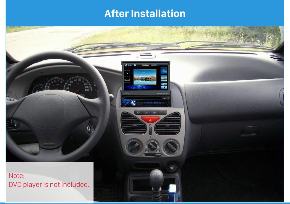 Seicane Elegant 1Din Car Radio Fascia for 2005 FIAT SIERA POLIO WEEKEND Frame Panel Audio Player Stereo Install