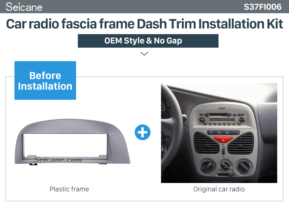 Seicane Elegant 1Din Car Radio Fascia for 2005 FIAT SIERA POLIO WEEKEND Frame Panel Audio Player Stereo Install