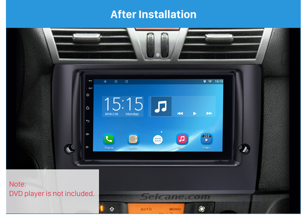 Seicane Stunning Double Din Car Radio Fascia for 2010 FIAT STILO DVD Frame In Dash Mount Kit Surround Panel