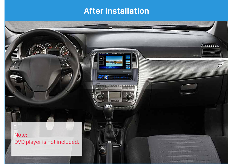 Seicane Grey 1Din Car Radio Fascia for 2005 2006 2007 FIAT PUNTO LINEA Stereo Install Dash Kit DVD Frame CD Trim
