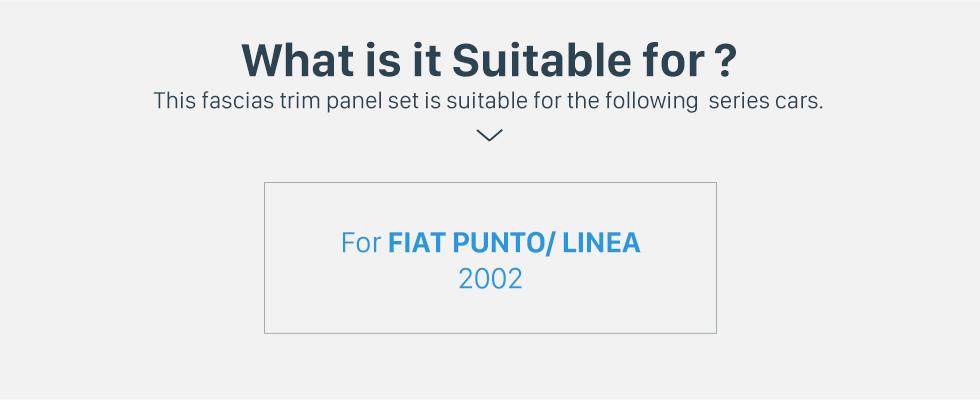 Seicane Deluxe 1Din Car Radio Fascia for 2002 FIAT PUNTO LINEA Audio Player Dash Kit Face Plate Panel