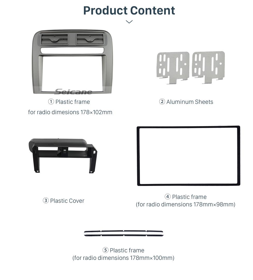 Seicane 2 DIN Car Radio Fascia Stereo Frame Install Dash Bezel Trim Kit Cover Trim For 2005-2009 FIAT GRAND PUNTO (LHD) OEM style No gap