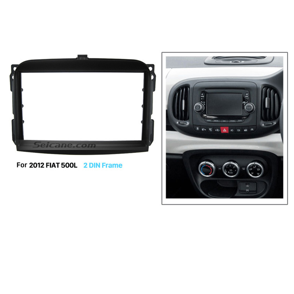Seicane Nice Double Din Car Radio Fascia for 2012 FIAT 500L Auto Stereo Adapter Install Frame Dash Installation Kit