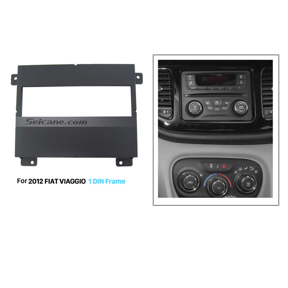 Seicane Perfect 1Din Car Radio Fascia for 2012 FIAT VIAGGIO DVD Panel Car Dashboard Covers Dash Mount
