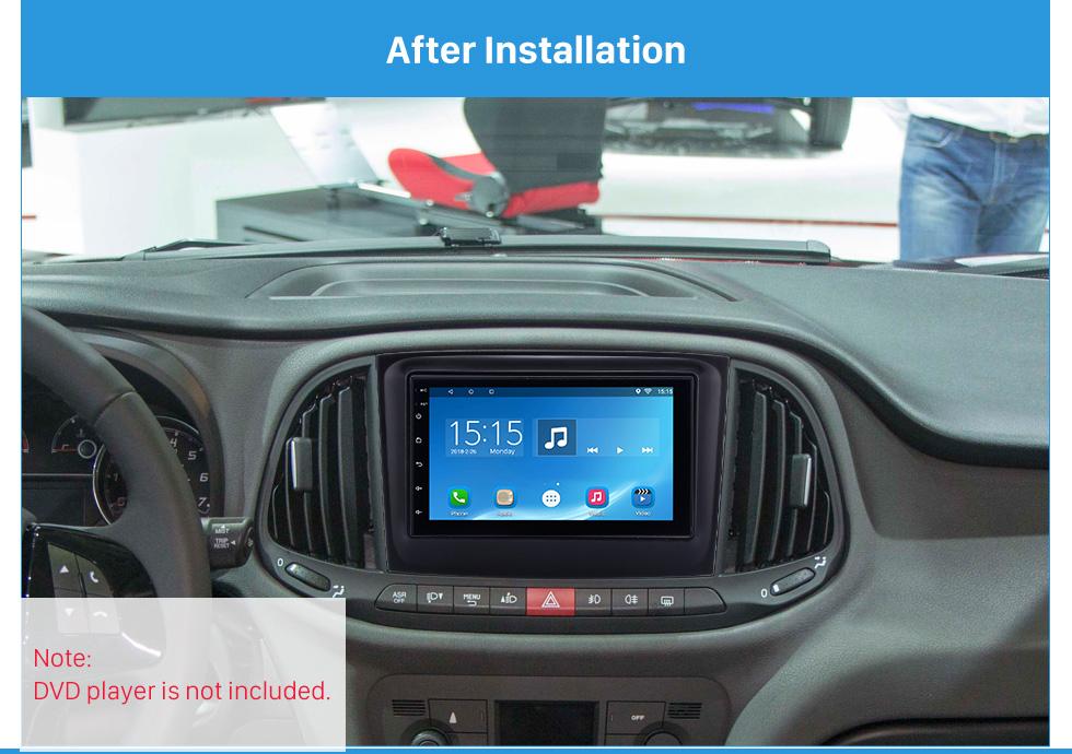 Seicane 173*98mm 2Din Car Radio Fascia for 2015 Fiat Doblo Opel Combo Dash Mount Audio Cover Car refitting dvd frame