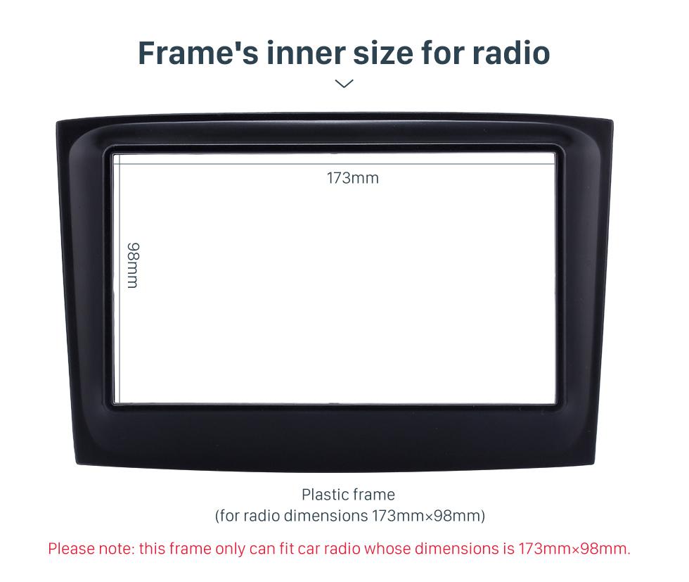 Seicane 173 * 98 mm 2Din radio de coche de la fascia para el año 2015 Fiat Doblo Opel Combo Dash reinstala el marco del dvd del montaje de audio cubierta del coche