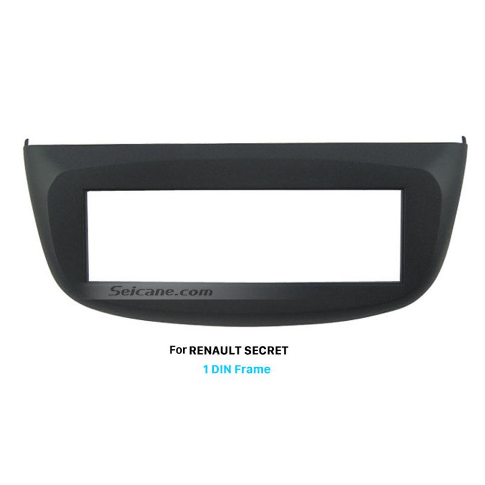 Seicane ABS Plastic 1 Din car radio Fasciafor RENAULT SECRET Dashboard CD Trim Installlation Kit Auto Stereo Interface Panel
