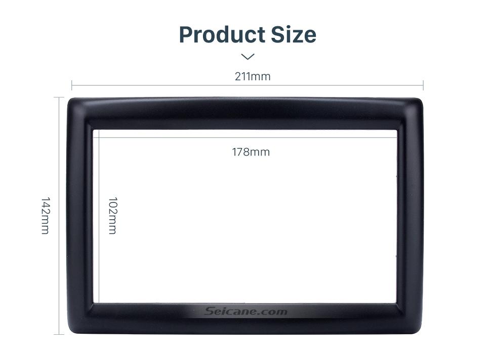 Seicane Latest 2 Din car radio Fascia for 2009 RENAULT MEGANE Audio Fitting Adaptor auto stereo installation Frame Trim Bezel