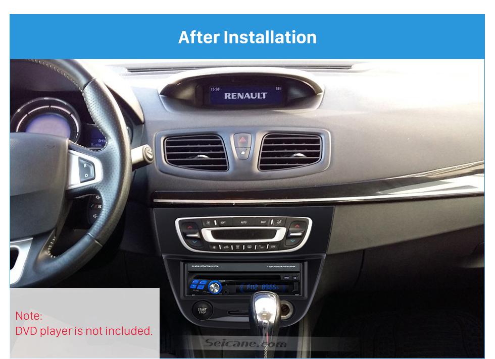 After Installation Newest Black 1 Din car radio Fascia for 2009 RENAULT FLUENCE Auto Stereo Interface Panel Dash Mount Kit Adaptor Trim Bezel