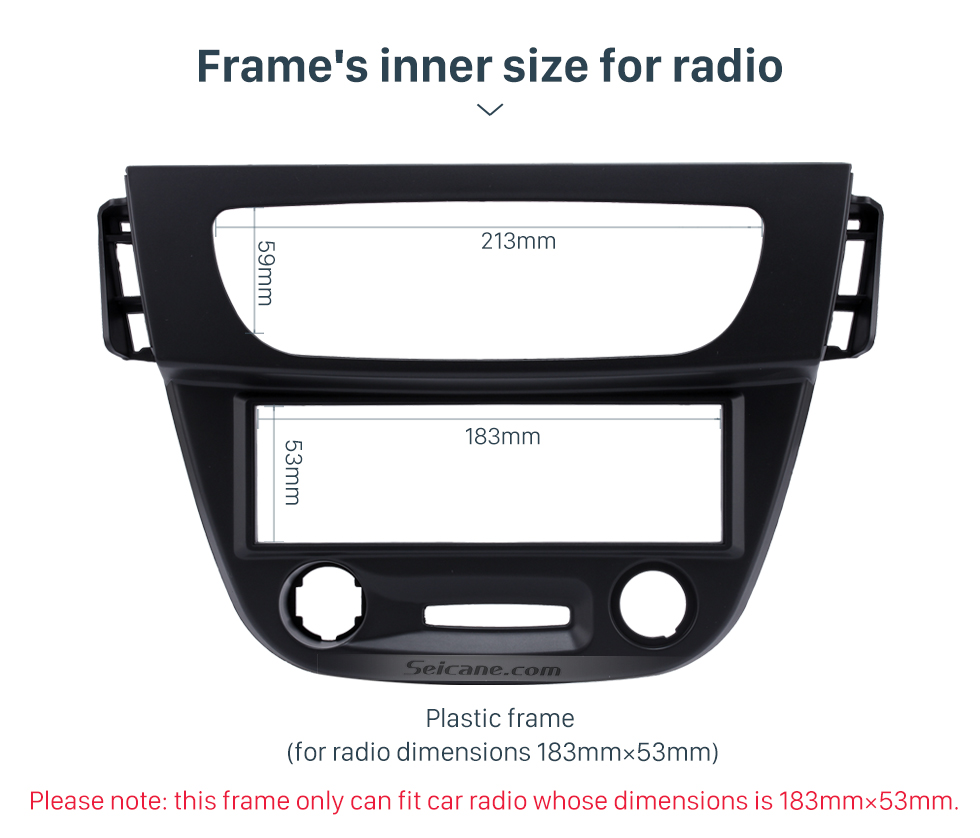 Frame's inner size for radio Newest Black 1 Din car radio Fascia for 2009 RENAULT FLUENCE Auto Stereo Interface Panel Dash Mount Kit Adaptor Trim Bezel