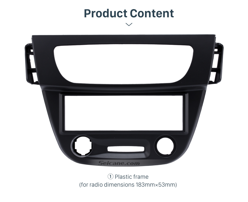 Product Content Newest Black 1 Din car radio Fascia for 2009 RENAULT FLUENCE Auto Stereo Interface Panel Dash Mount Kit Adaptor Trim Bezel