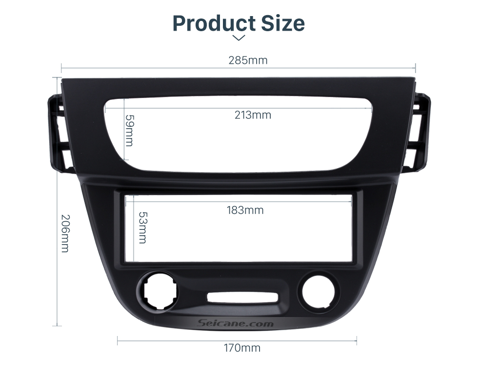 Product Size Newest Black 1 Din car radio Fascia for 2009 RENAULT FLUENCE Auto Stereo Interface Panel Dash Mount Kit Adaptor Trim Bezel