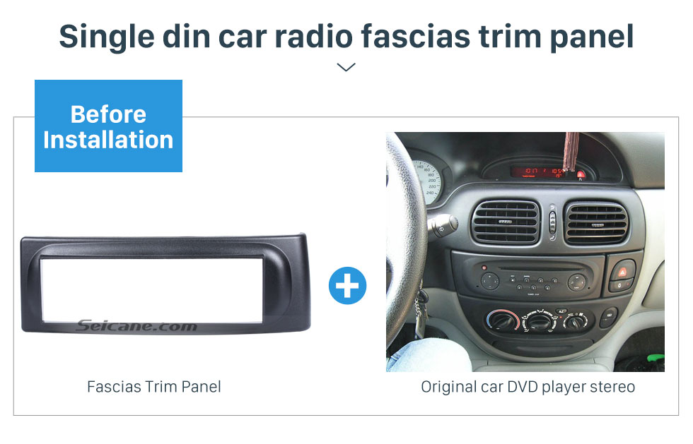 Seicane Newest 1 Din car radio Fascia for 1996-2003 RENAULT SCENIC Megane In Dash Mount Kit Adaptor auto stereo installation DVD Frame