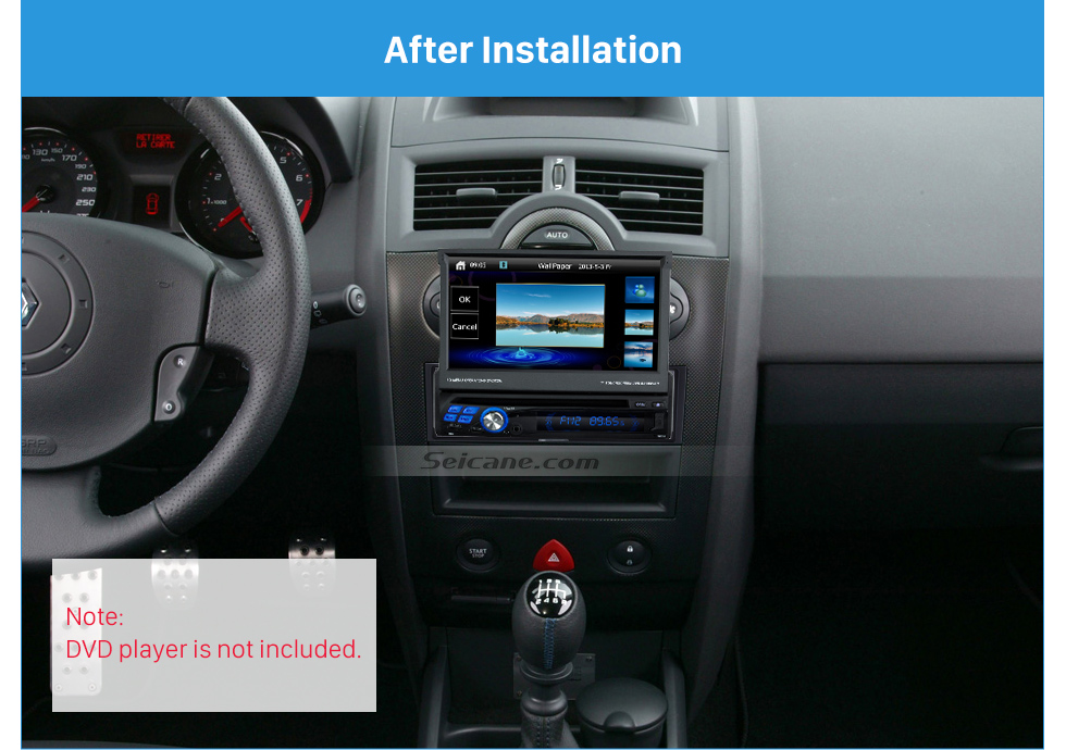 Seicane Superb 1 Din car radio Fascia for 2005 RENAULT MEGANE Audio Fitting Adaptor stereo installation Frame Dash Mount Kit Adaptor
