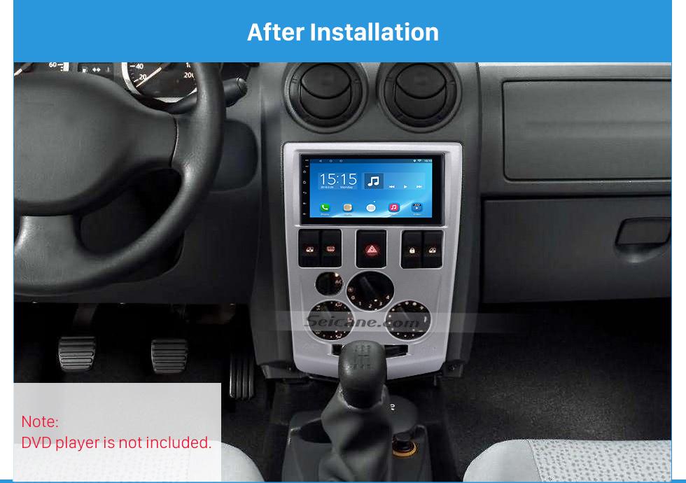 After Installation Popular 2Din car radio Fascia for 2004 2005 2006 2007 RENAULT LOGAN Trim Dash CD Installation Kit Stereo Interface Frame Panel