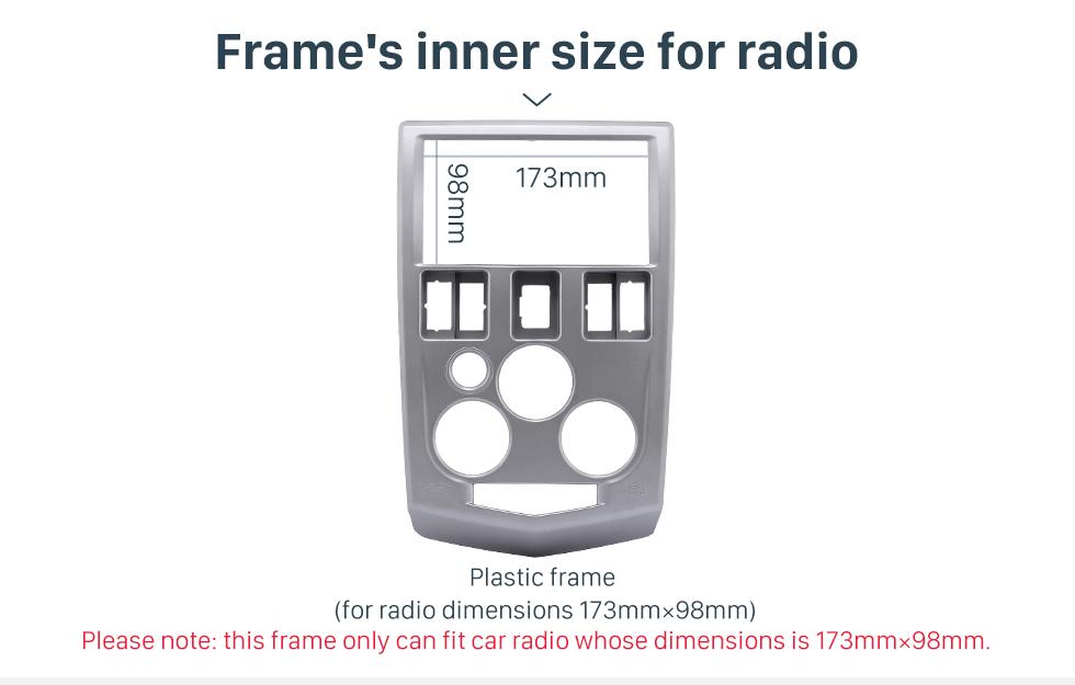 Frame's inner size for radio Popular 2Din car radio Fascia for 2004 2005 2006 2007 RENAULT LOGAN Trim Dash CD Installation Kit Stereo Interface Frame Panel