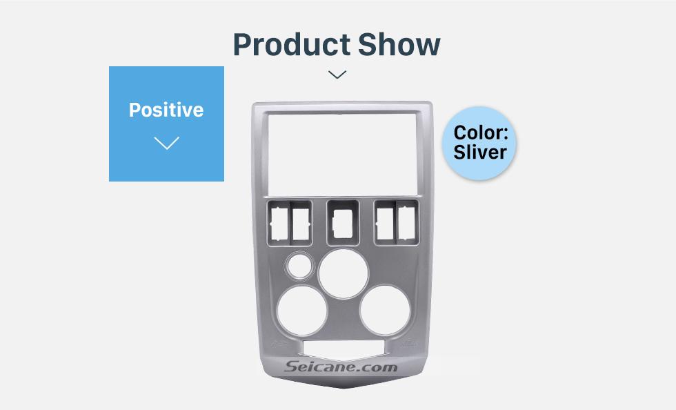 Product Show Popular 2Din car radio Fascia for 2004 2005 2006 2007 RENAULT LOGAN Trim Dash CD Installation Kit Stereo Interface Frame Panel
