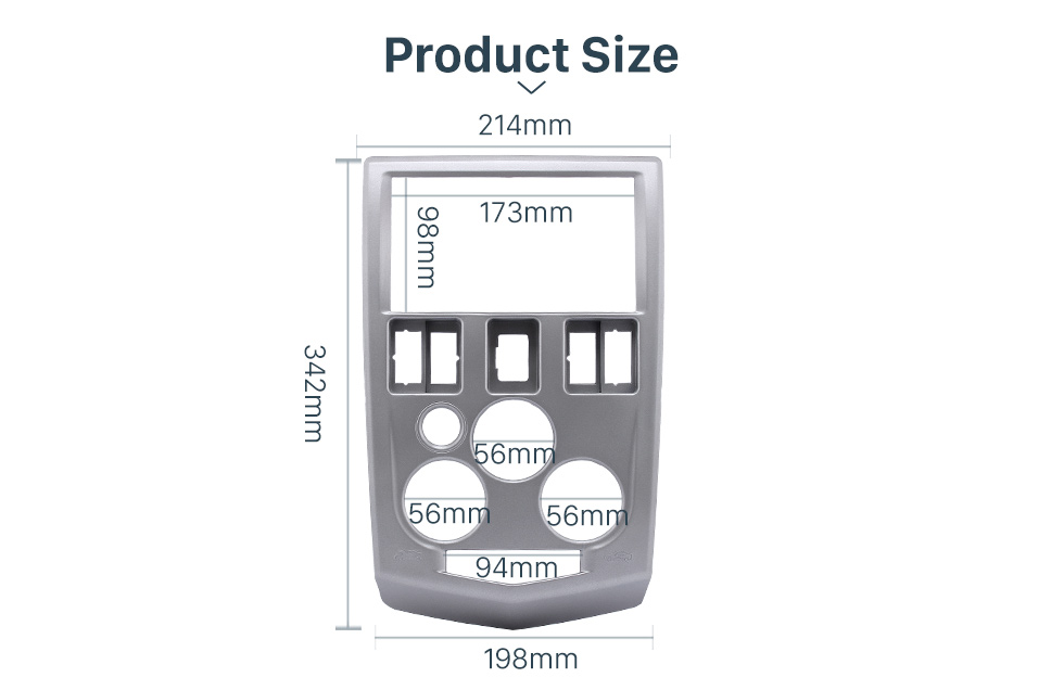 Product Size Popular 2Din car radio Fascia for 2004 2005 2006 2007 RENAULT LOGAN Trim Dash CD Installation Kit Stereo Interface Frame Panel