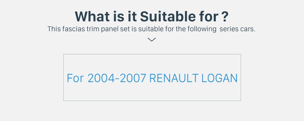 What is it Suitable for? Popular 2Din car radio Fascia for 2004 2005 2006 2007 RENAULT LOGAN Trim Dash CD Installation Kit Stereo Interface Frame Panel