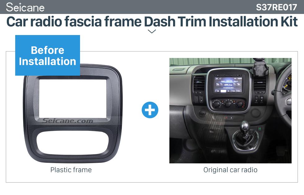 din car radio fascia    renault trafic opel vivaro dvd panel dash kit auto stereo
