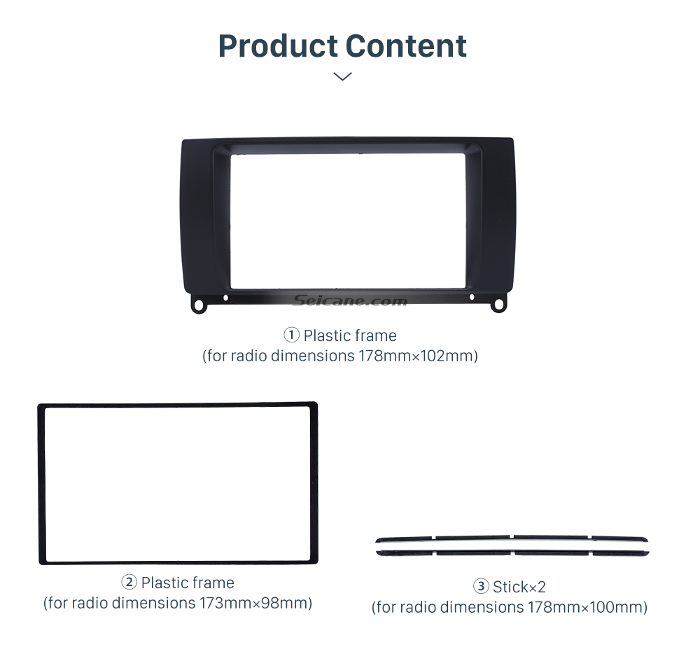 Seicane Black Double Din Car Radio Fascia for 2009 ROVER MG7 Autostereo Interface Dash Mount DVD Player Fitting Frame