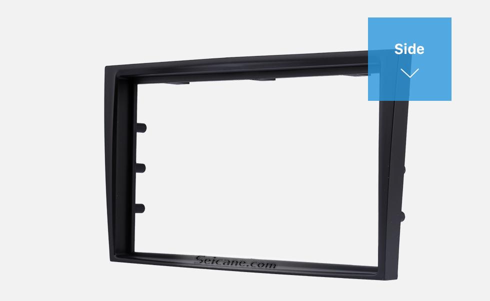 Seicane Black Double Din Car Radio Fascia for 2006+ Opel Vectra Astra Zafira Stereo Dash CD Frame Panel Audio Cover