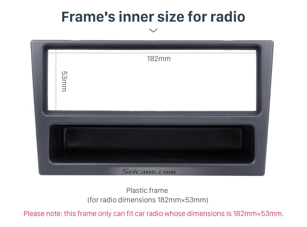 Seicane Black 1Din Car Radio Fascia for OPEL Corsa (C) Meriva Omega (B) Vectra Vivaro Frame Surround Panel Stereo Dash CD Audio Player