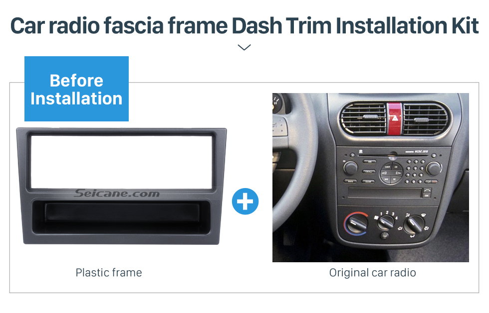 Black 1Din Car Radio Fascia for OPEL Corsa (C) Meriva Omega