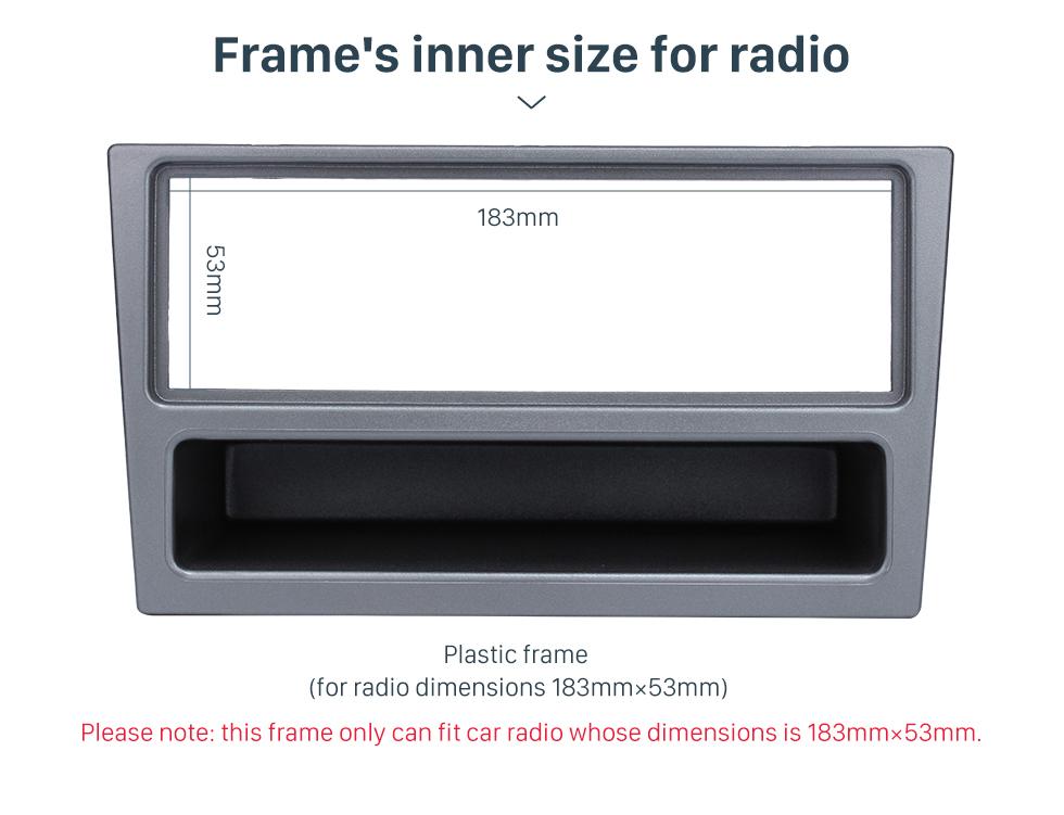 Seicane Silver Grey 1Din Frame Car Radio Fascia for OPEL Agila Astra (G) Meriva Signum Tigra Dashboard Panel DVD Player Stereo Install
