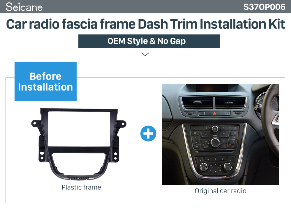 Seicane Well-designed Double Din Car Radio Fascia for Opel Mokka Fitting Frame DVD Panel Stereo Dash CD