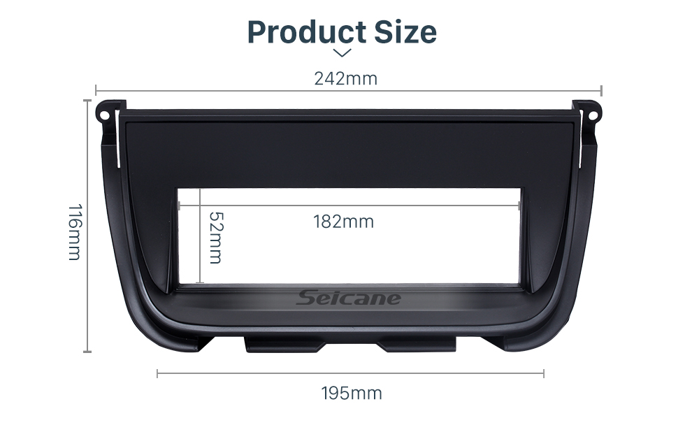 Seicane Exquisite 1Din Car Radio Fascia for Jaguar Trim Dash DVD Stereo Player Decorative Frame Installation Kit