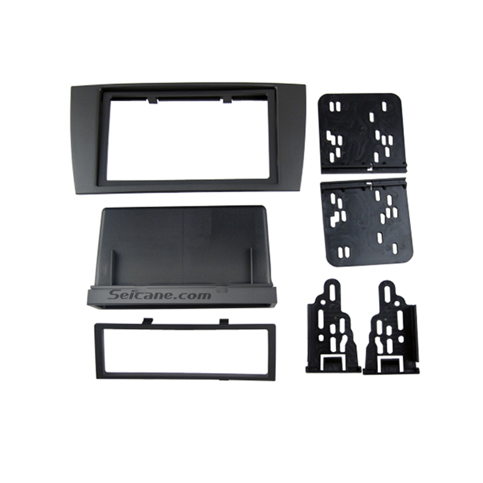 Seicane Black Double Din Car Radio Fascia for 2003-2008 Jaguar S&X Stereo Interface DVD GPS Trim Install Frame