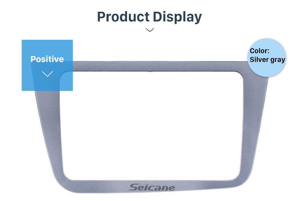 Seicane Top Quality Duplo 2 Din Radio Car Fascia para Seat Altea RHD Quadro Stereo Traço Kit de Instalação Mount DVD guarnição Painel