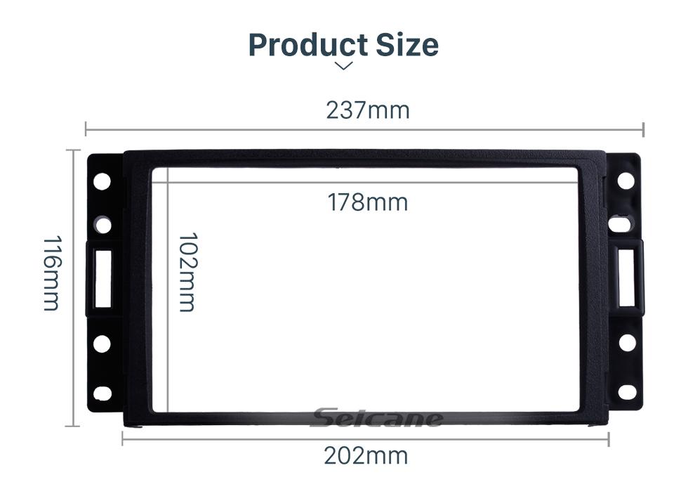 Seicane Black Double Din Car Radio Fascia for Hummer H3 CHEVROLET BUICK PONTIAC/ SATURN / SAAB Surround Panel Auto Trim Stereo Dash CD Frame