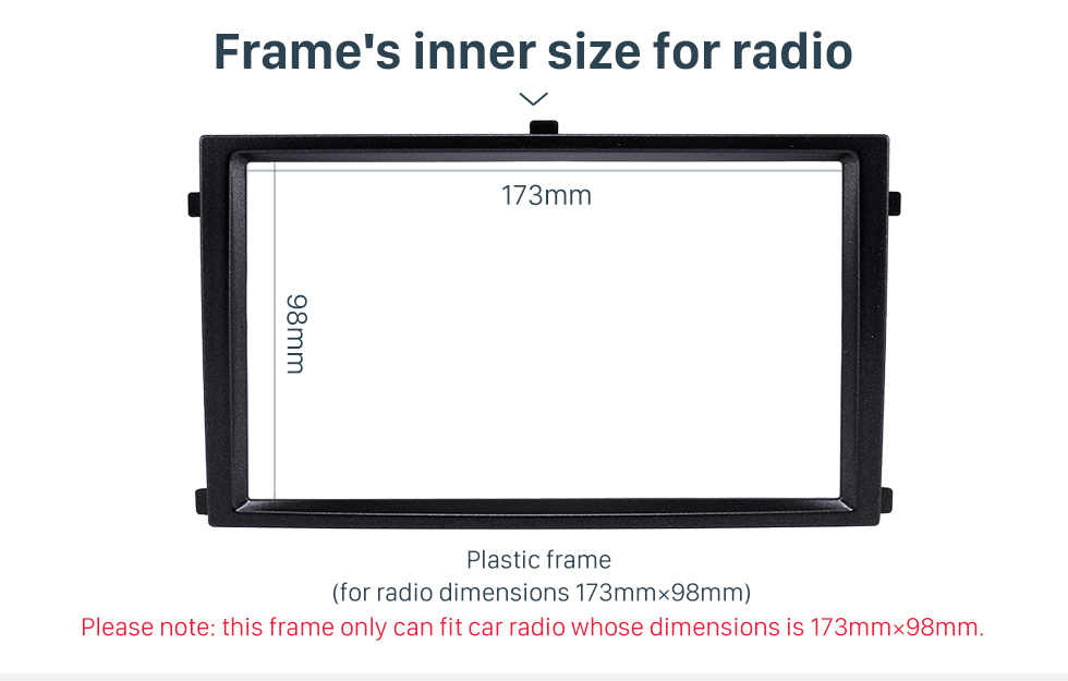 Seicane Great Quality 2 Din Car Radio Fascia for 2007+ SSANG YONG REXTON Auto Stereo Interface Panel Audio Fitting Frame Adaptor