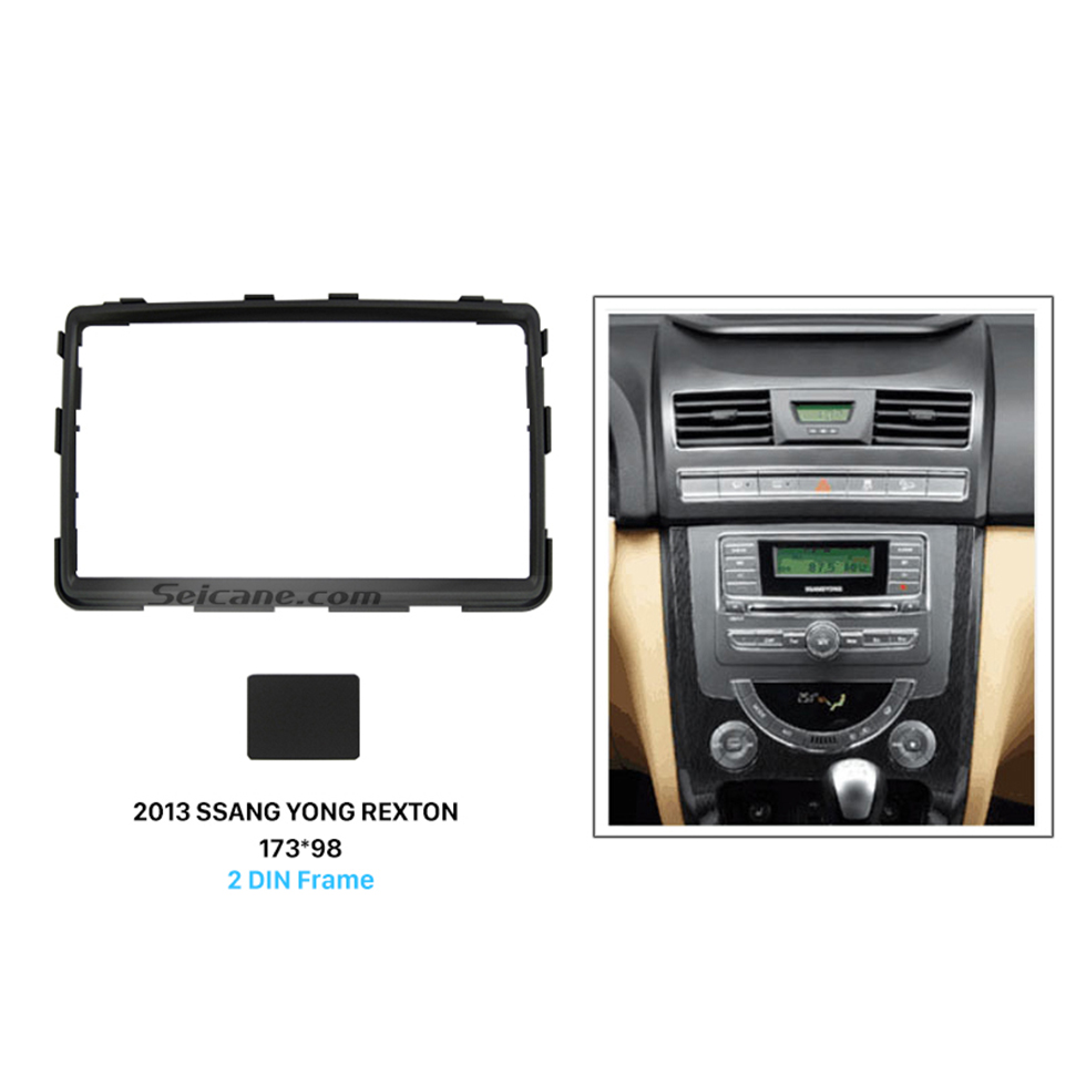 Seicane Perfect Double 2 Din Car Radio Fascia for 2013+ SSANG YONG REXTON Stereo Plate Frame Panel Car Styling Trim Installation Kit