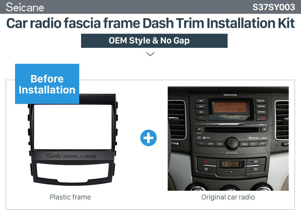 Car radio fascia frame Dash Trim Installation Kit  Fashionable 2 Din Car Radio Fascia for 2010 SSANG YONG KORAND Fitting Frame Stereo Interface Dash Mount Kit Adaptor