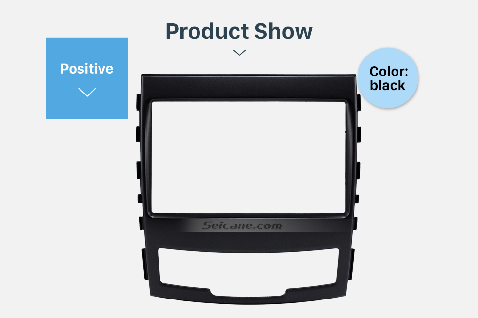 Product Show Fashionable 2 Din Car Radio Fascia for 2010 SSANG YONG KORAND Fitting Frame Stereo Interface Dash Mount Kit Adaptor