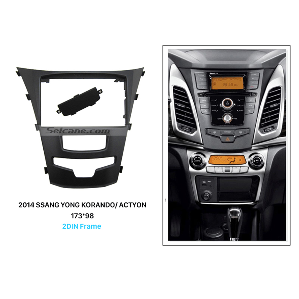 Seicane Fabulous 2 Din Car Radio Fascia for 2014 SSANG YONG KORANDO ACTYON Auto Stereo panel Kit Audio Frame Trim Bezel