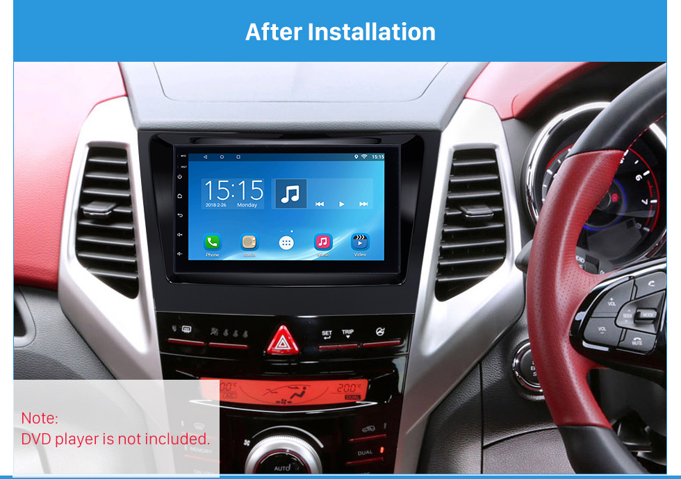 After Installation Crafted 2 Din Car Radio Fascia for 2015 SSANG YONG TIVOLI TIVOLAN Audio Fitting Frame Adaptor CD Trim Panel Fascia Plate