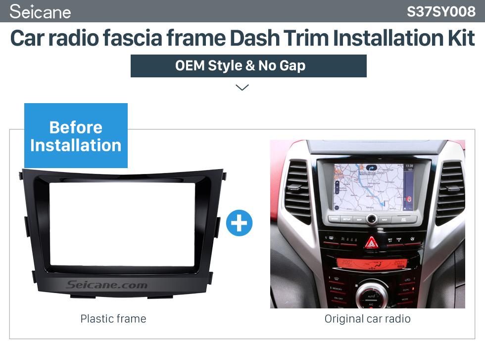 Car radio fascia frame Dash Trim Installation Kit Crafted 2 Din Car Radio Fascia for 2015 SSANG YONG TIVOLI TIVOLAN Audio Fitting Frame Adaptor CD Trim Panel Fascia Plate