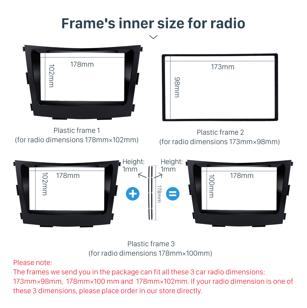 Frame's inner size for radio Crafted 2 Din Car Radio Fascia for 2015 SSANG YONG TIVOLI TIVOLAN Audio Fitting Frame Adaptor CD Trim Panel Fascia Plate