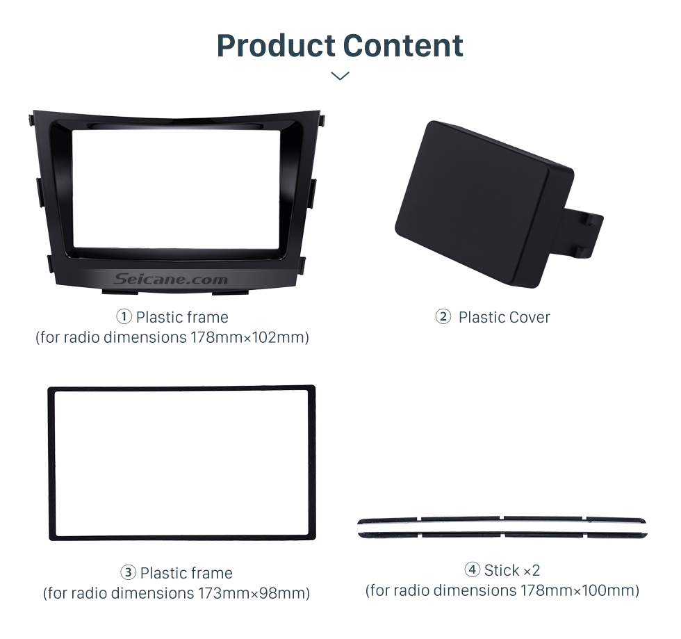 Product Content Crafted 2 Din Car Radio Fascia for 2015 SSANG YONG TIVOLI TIVOLAN Audio Fitting Frame Adaptor CD Trim Panel Fascia Plate