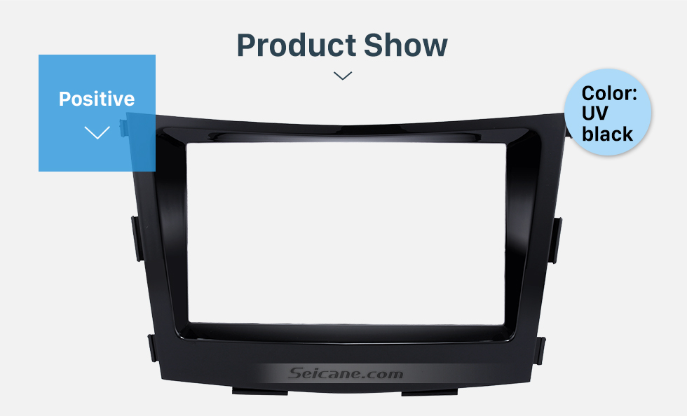 Product Show Crafted 2 Din Car Radio Fascia for 2015 SSANG YONG TIVOLI TIVOLAN Audio Fitting Frame Adaptor CD Trim Panel Fascia Plate