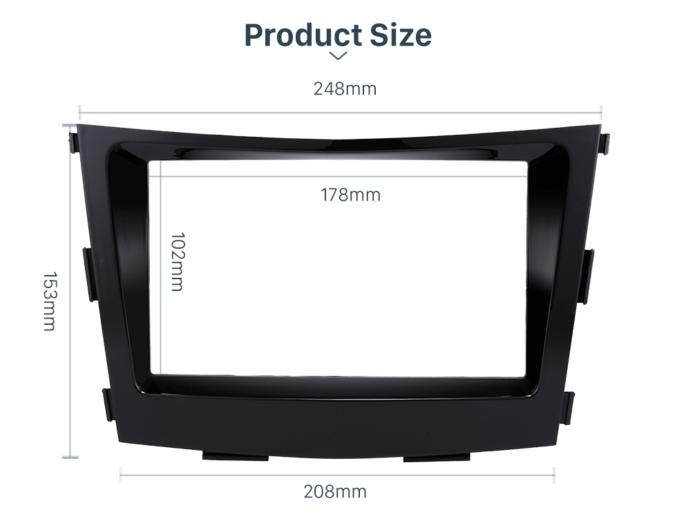Product Size Crafted 2 Din Car Radio Fascia for 2015 SSANG YONG TIVOLI TIVOLAN Audio Fitting Frame Adaptor CD Trim Panel Fascia Plate