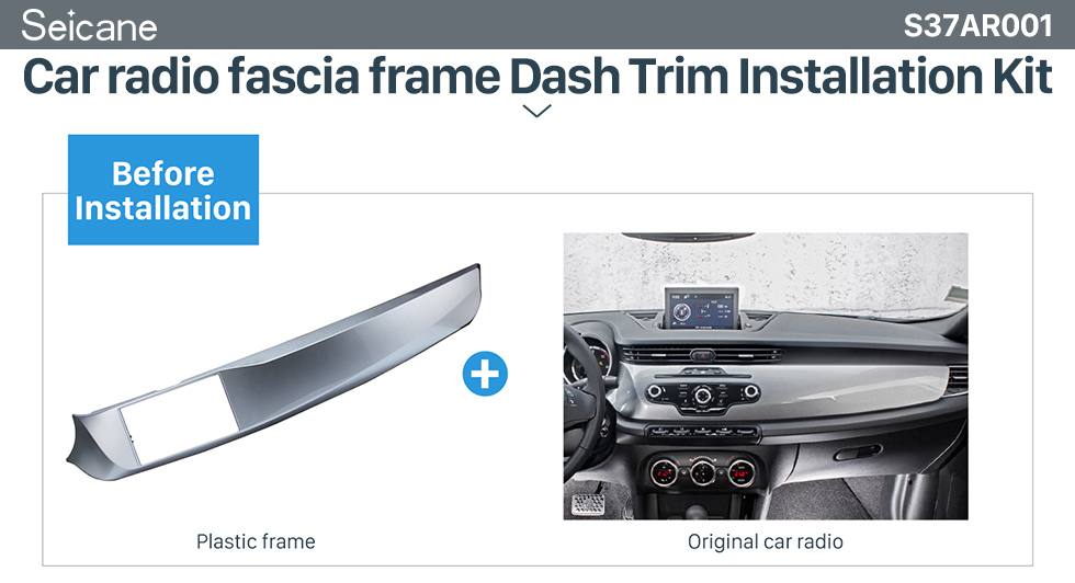 Seicane DOUBLE DIN Car Radio Fascia for 2010-2016 ALFA ROMEO GIULIETTA Left Hand drive (LHD) Stereo Installation Trim Panel Frame Kit